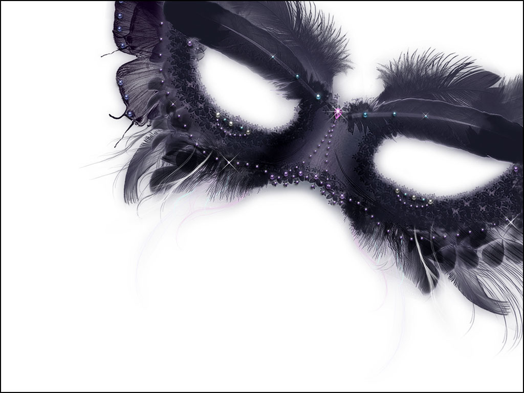 Black Masquerade Mask with Feathers 923.79 Kb