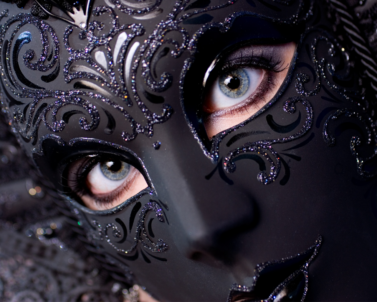 Masquerade Mask Covering Whole Face