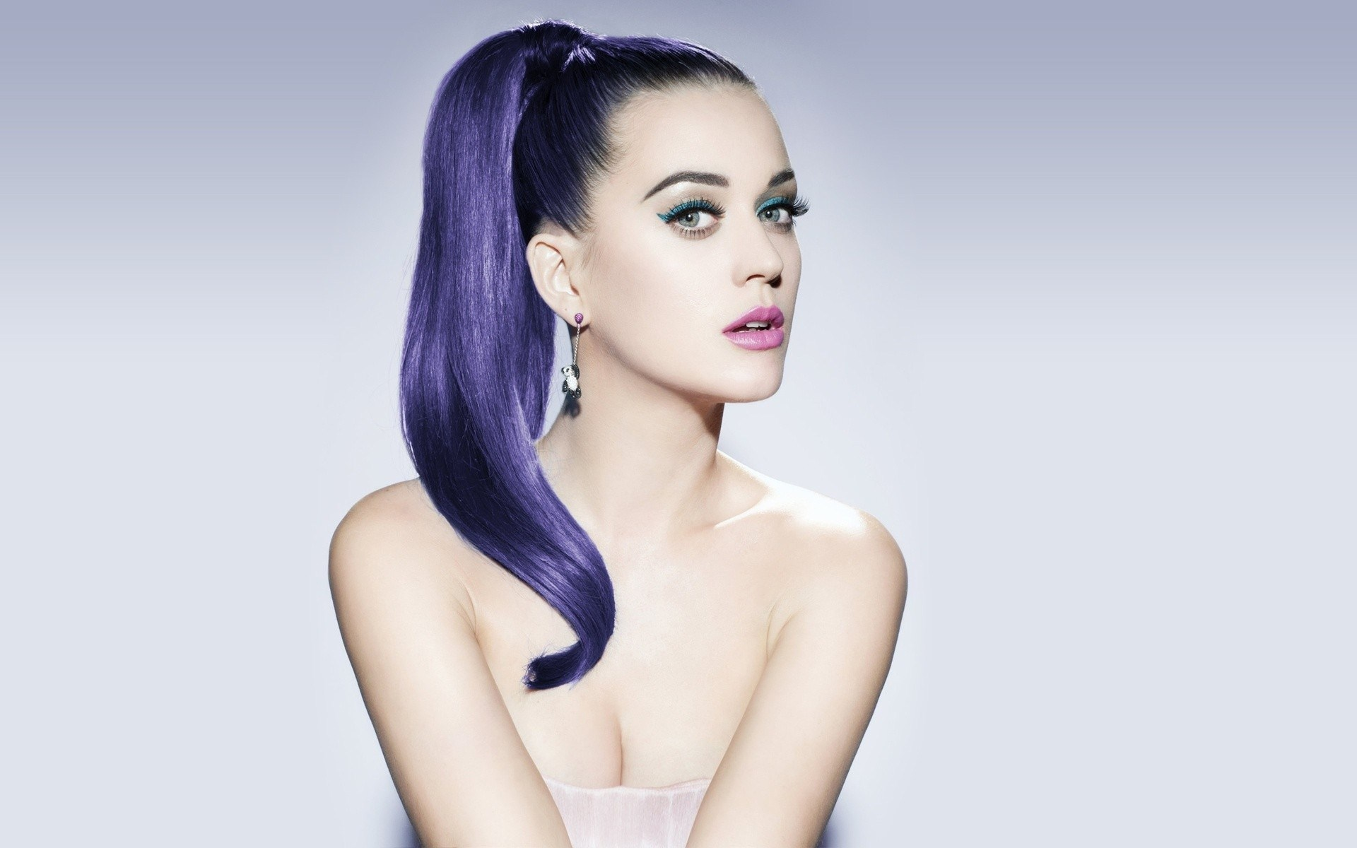 Katy Perry Purple Ponytail
