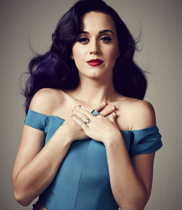 Katy Perry Dark Violet Hair