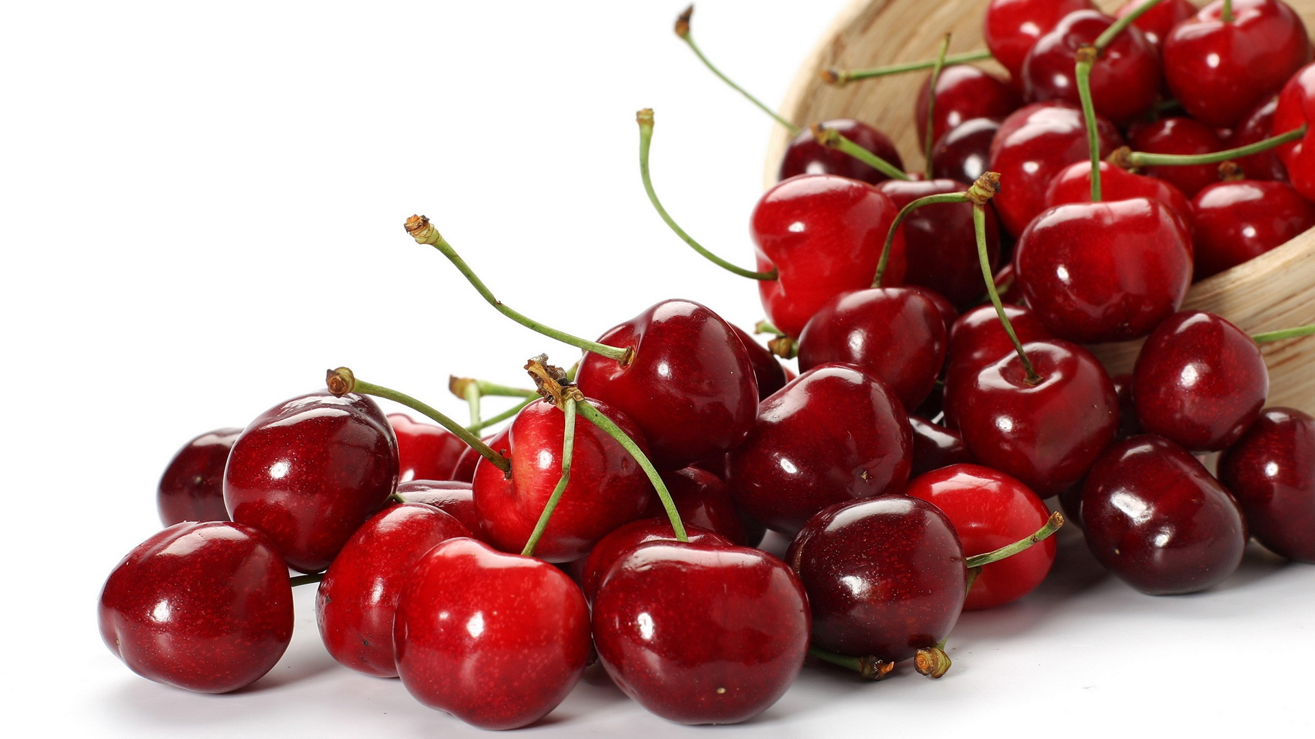 Red Cherry in a Basket
