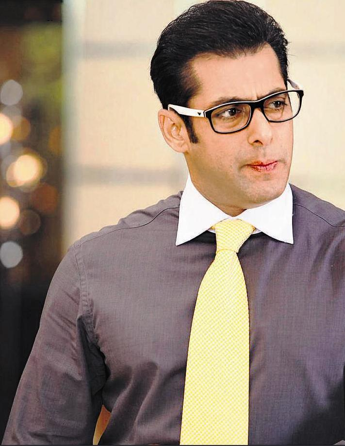 Salman Khan Wearing Yellow Tie