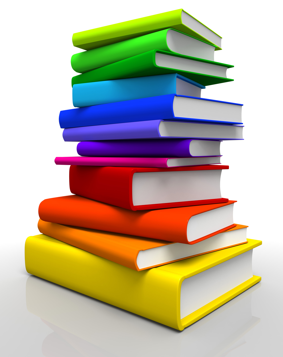 Rainbow Colors Book Stack 2492.03 Kb