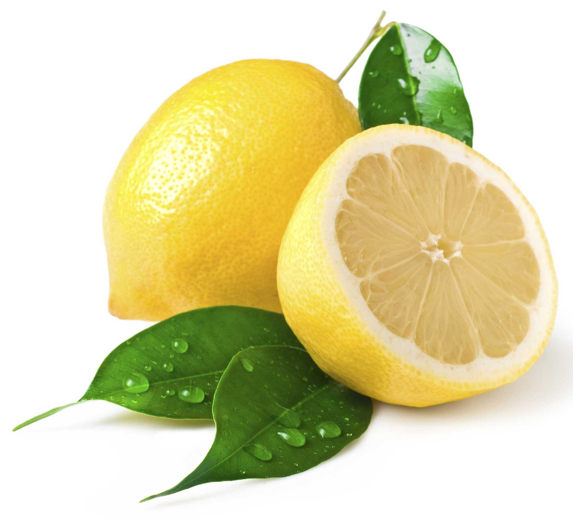 Yellow Lemon in Section