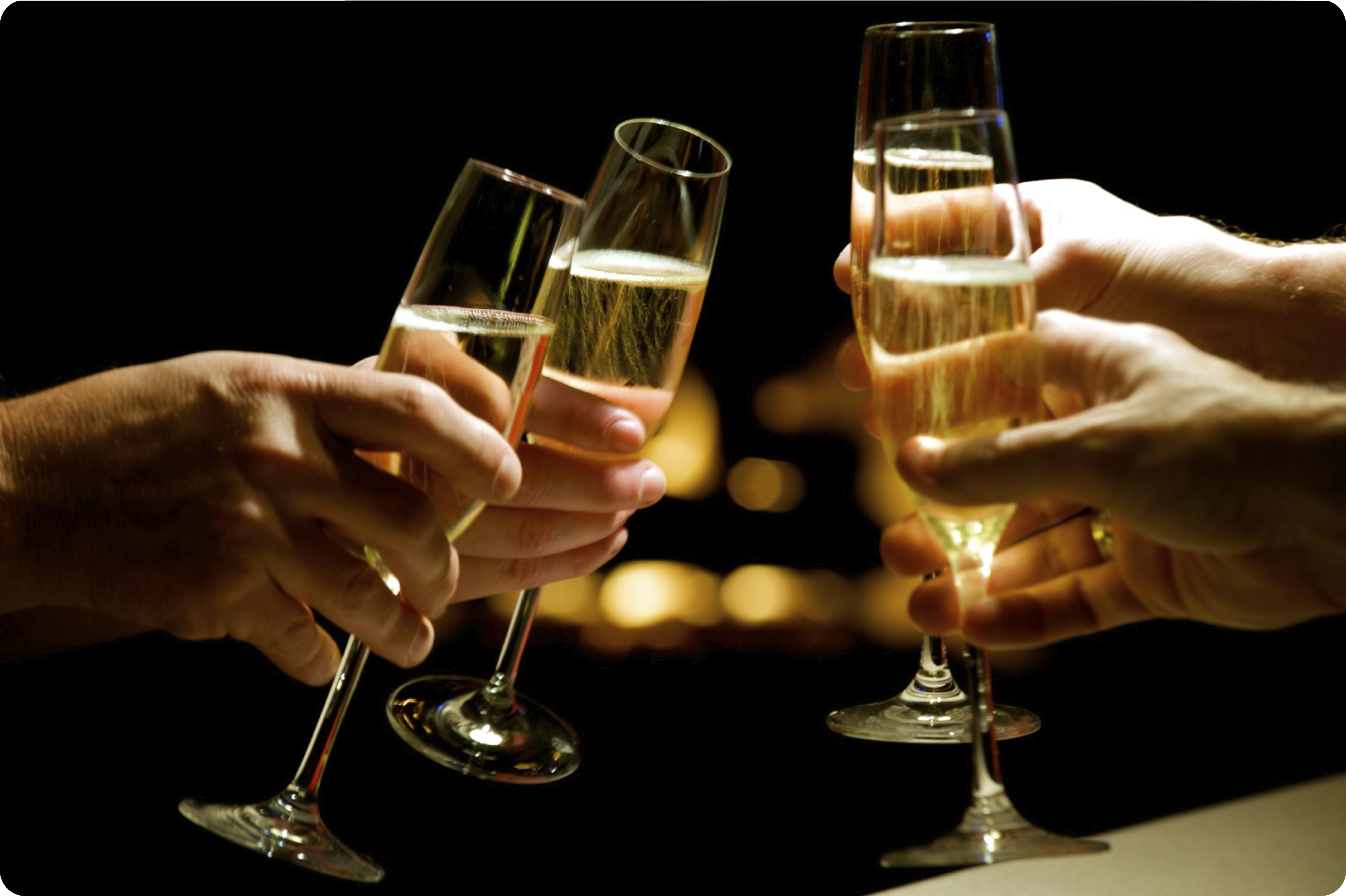 Cheers with Champagne on a Party #4246040, 3379x2251 | All ...