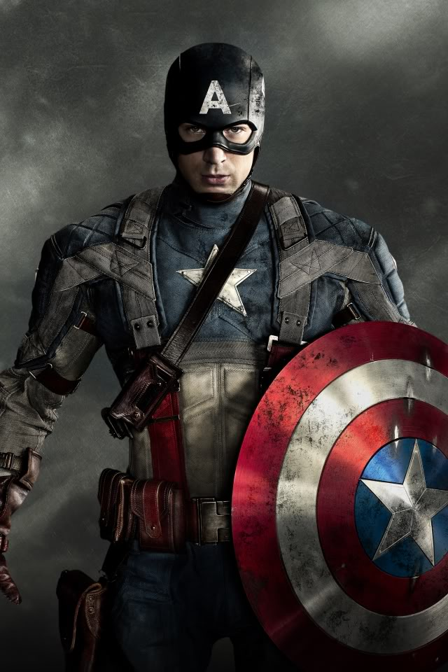 Captain America with American Flag Motif