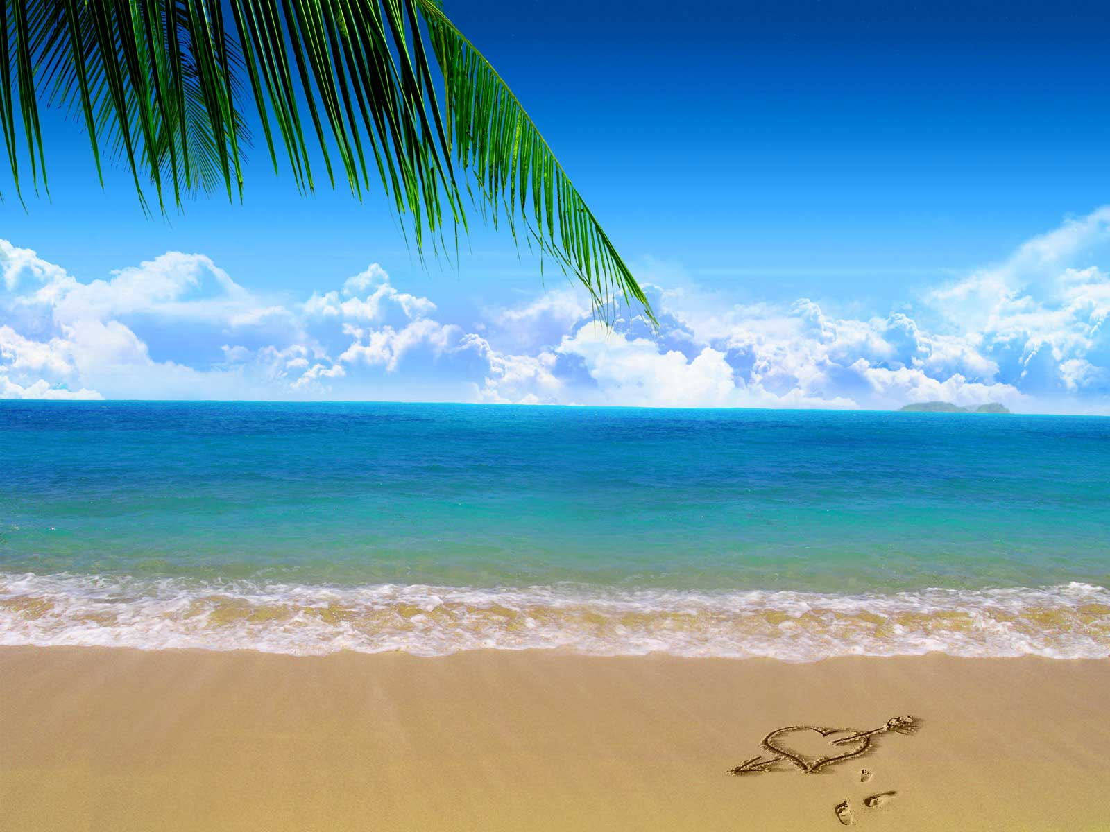 Heart in the Sand on a Beach