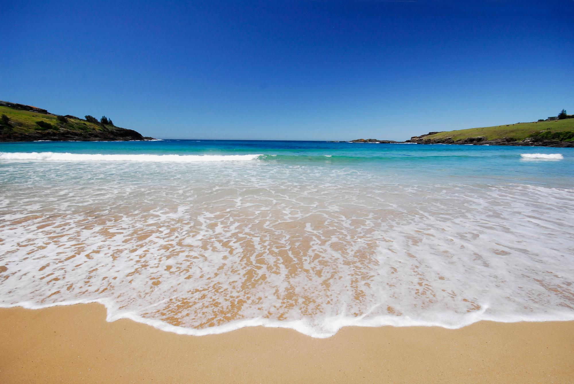 Sea Waves on a Beach