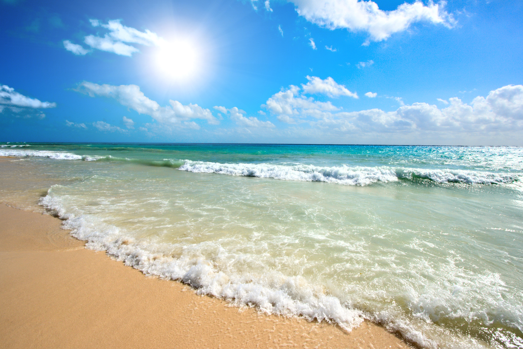 Ocean Waves on a Beach