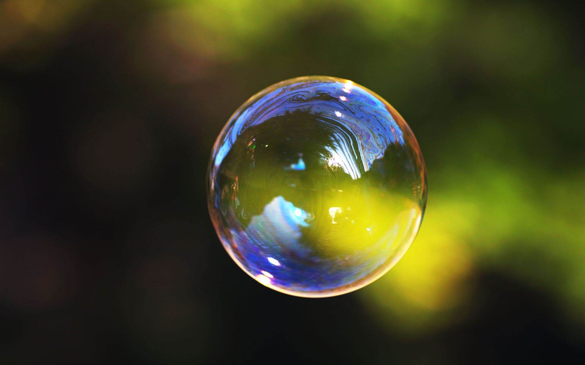 Single Soap Bubble In The Air