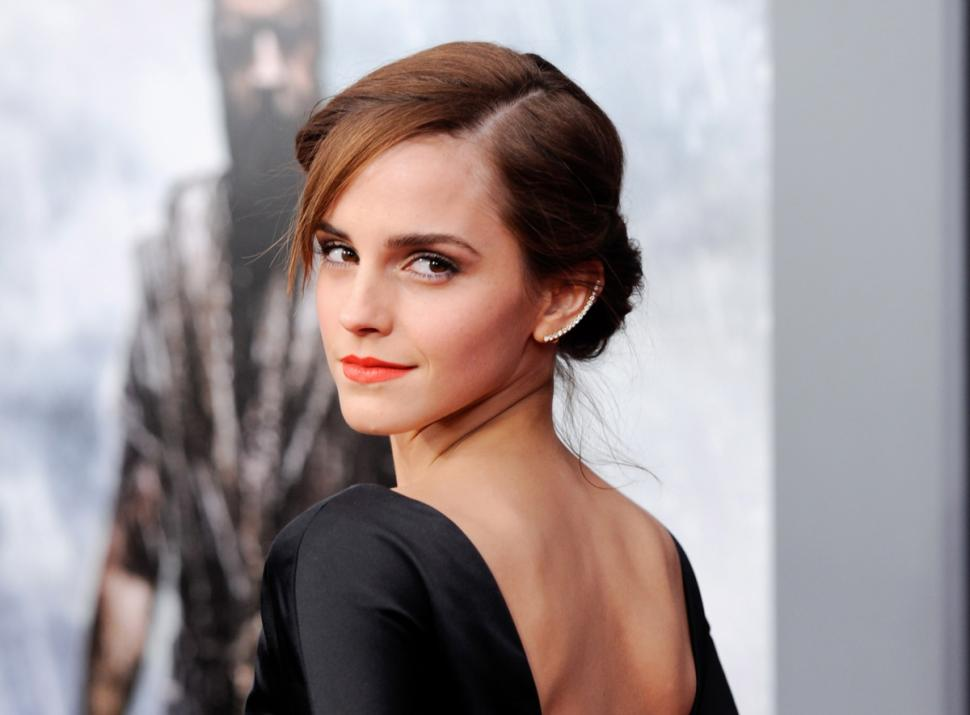 Emma Watson in a Black Dress