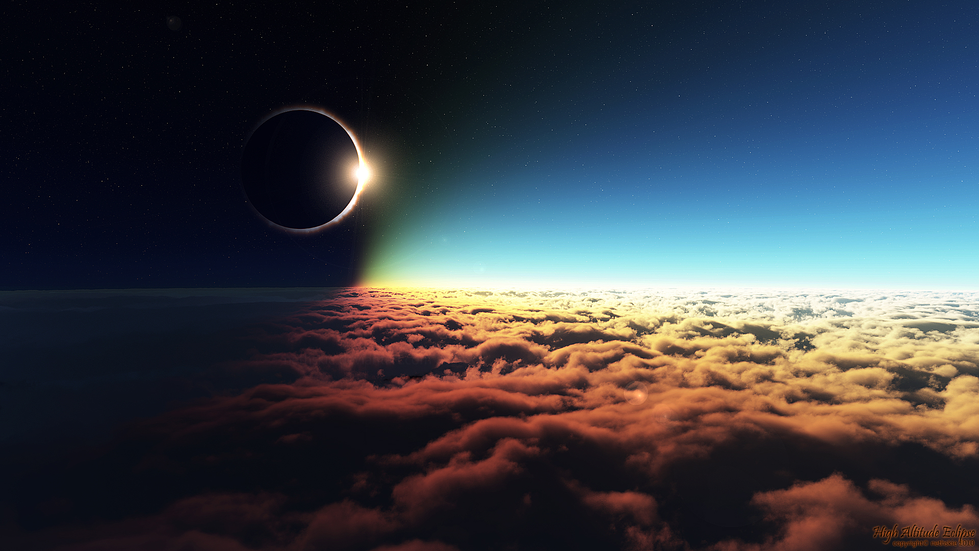 Eclipse over the Clouds Photoshoot 1046.13 Kb
