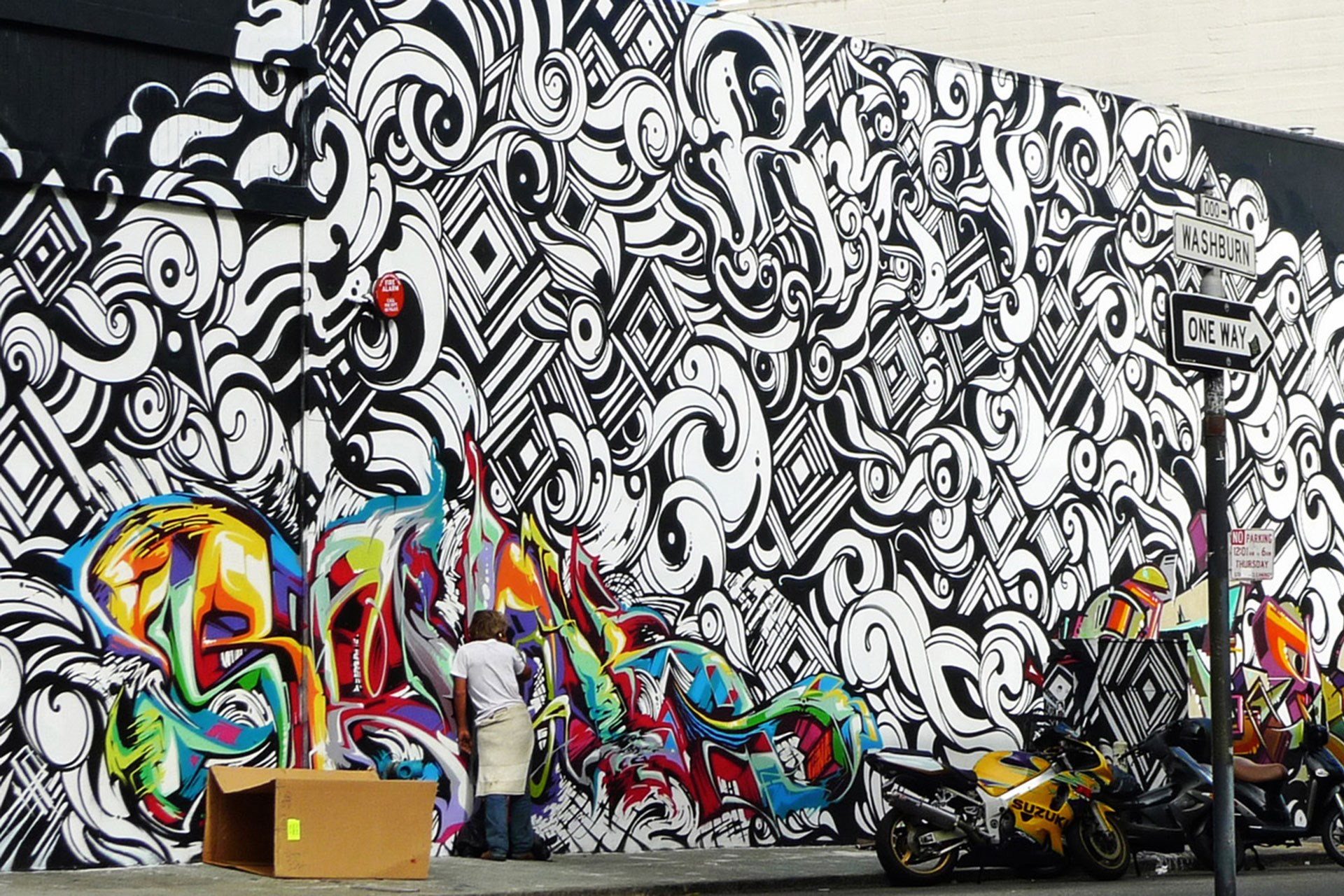 Abstract Colorful Graffiti