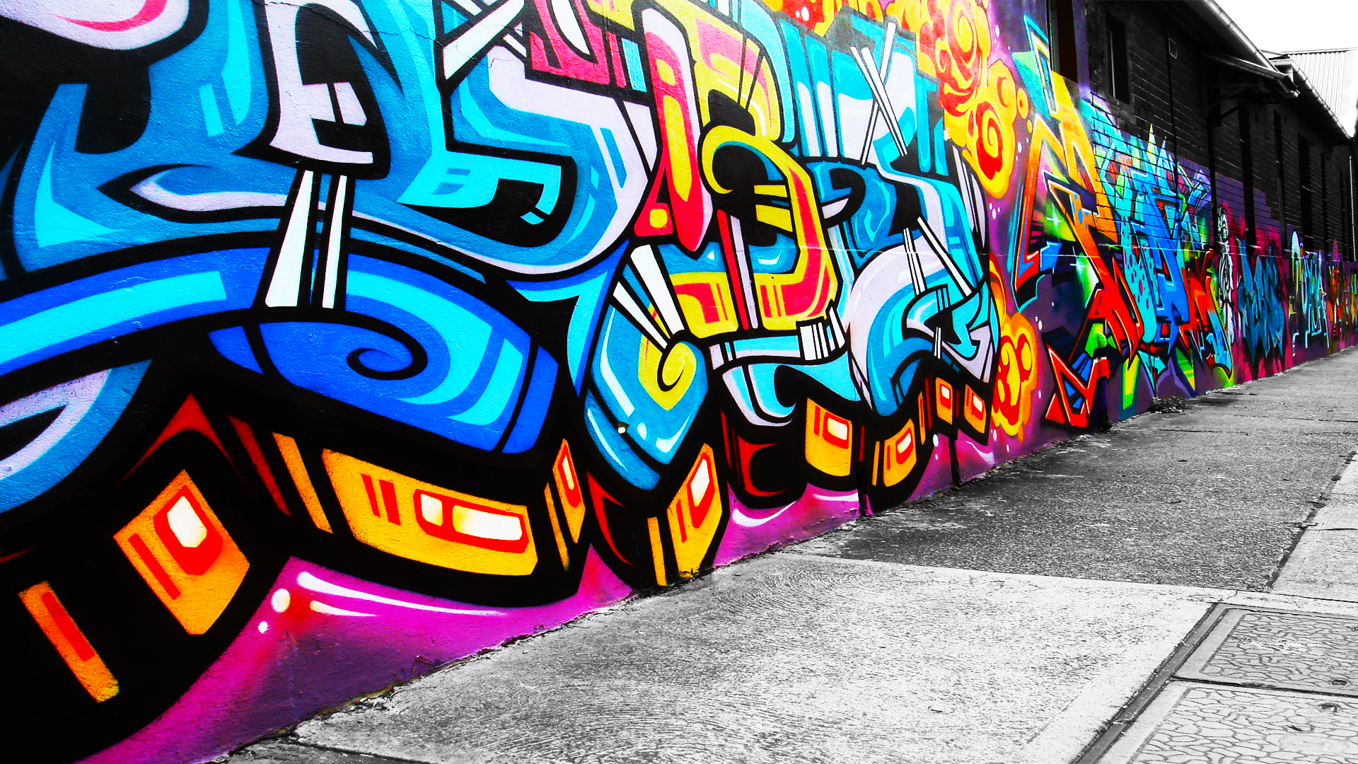 Graffiti on City Streets 727.3 Kb