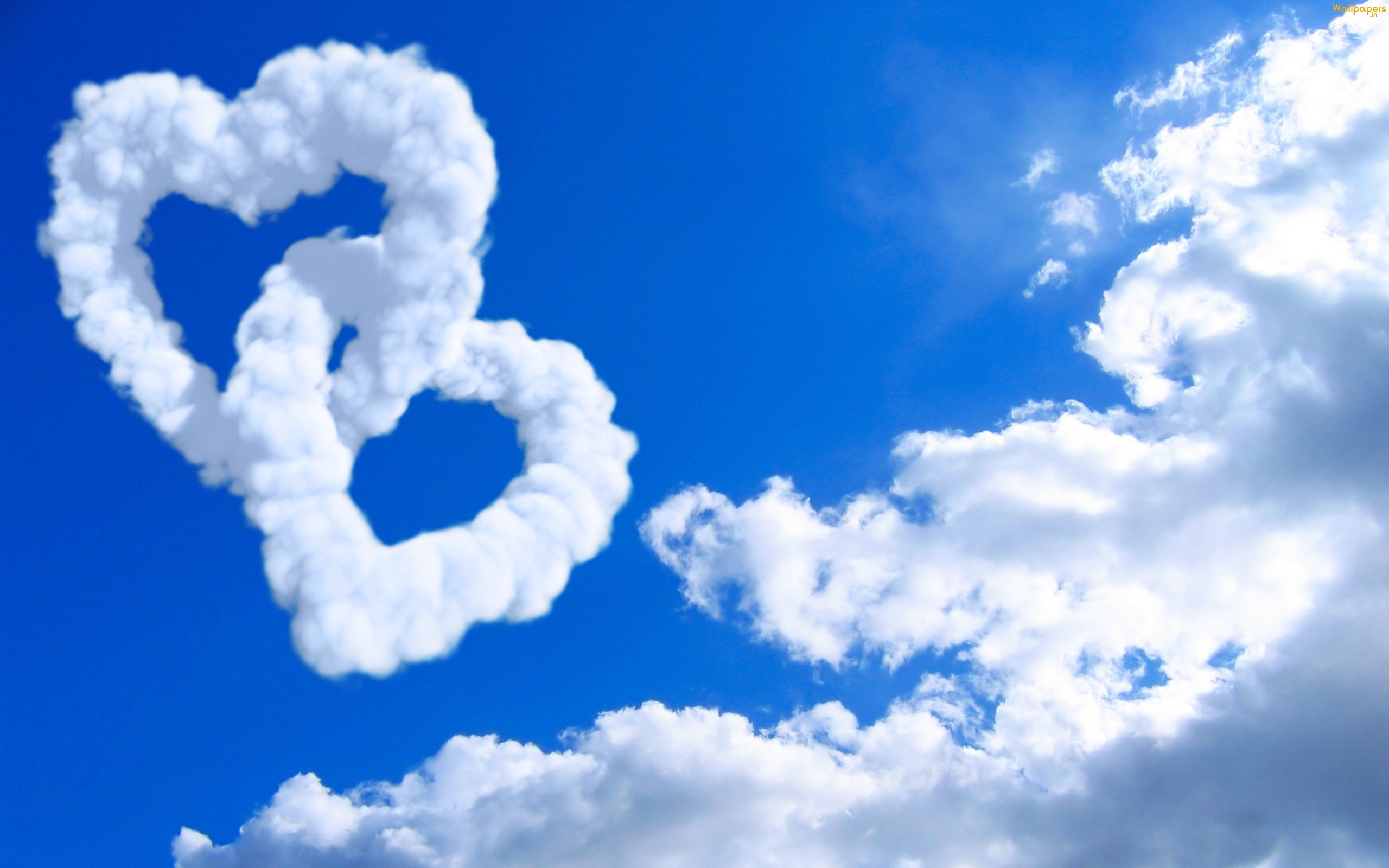 Love Hearts Clouds