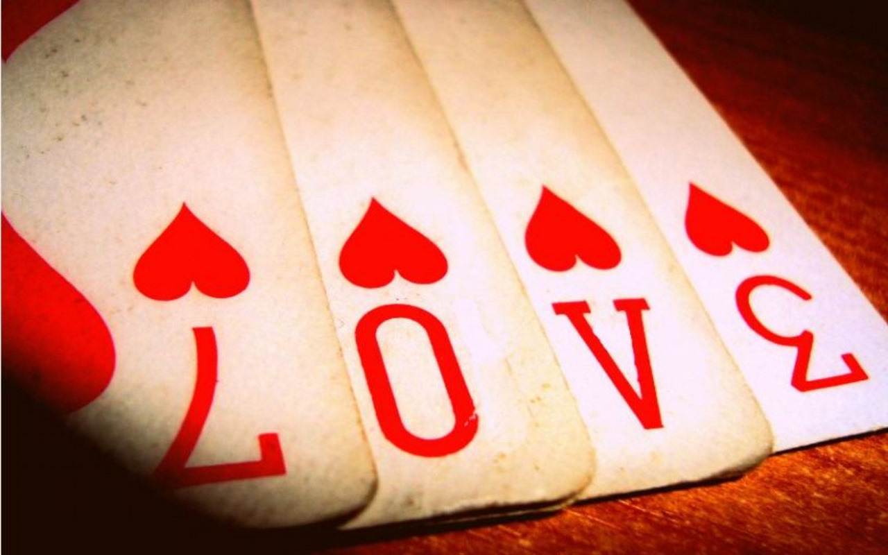 Love Word at Cards