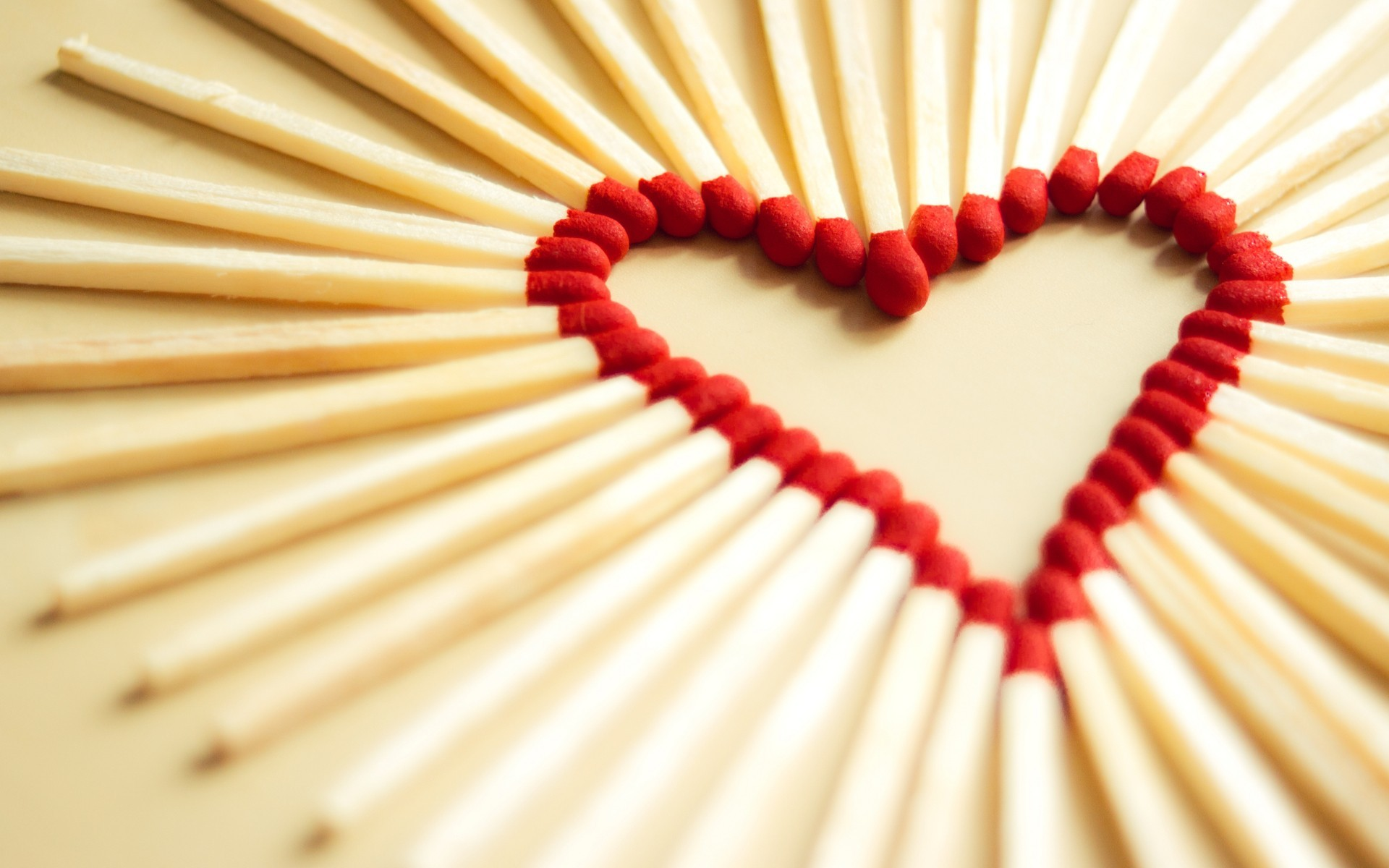 Love Heart with Matches