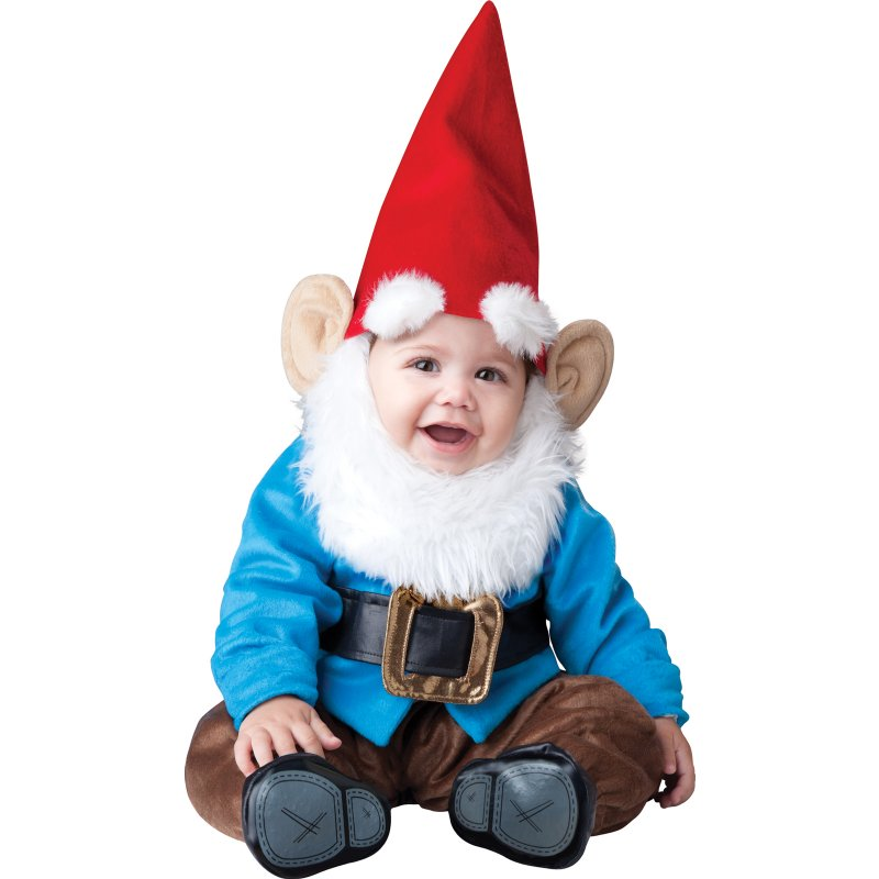 Child Wearing Gnome Costume