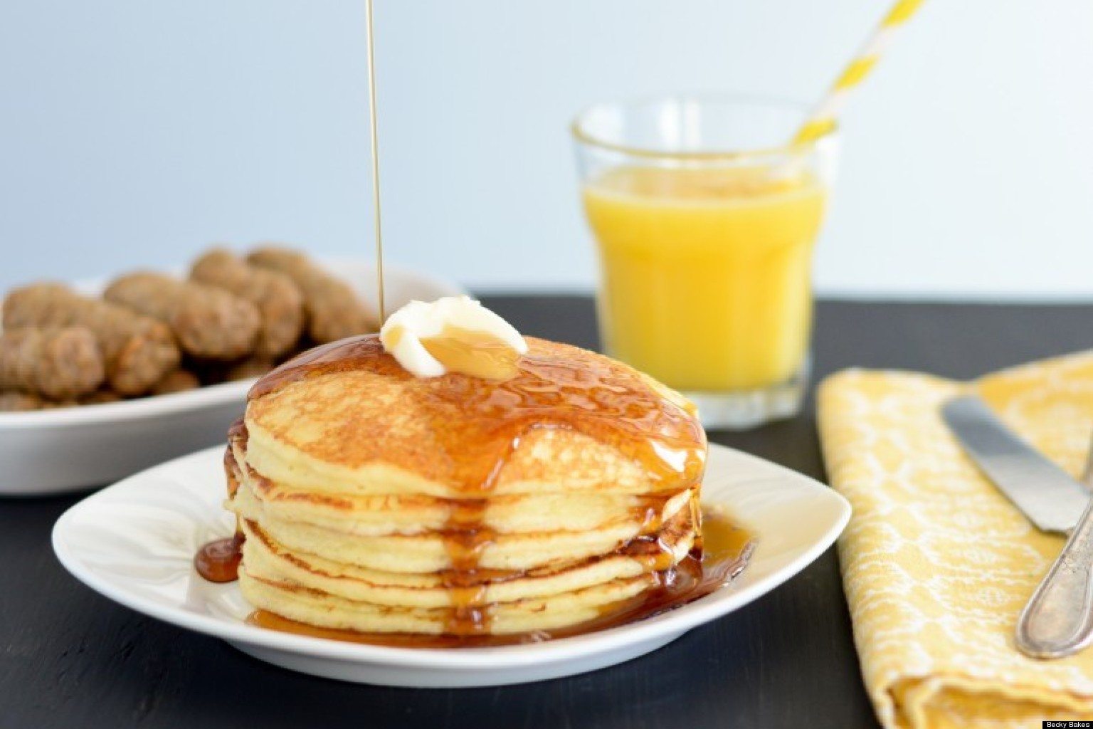Breakfast Pancakes with Honey