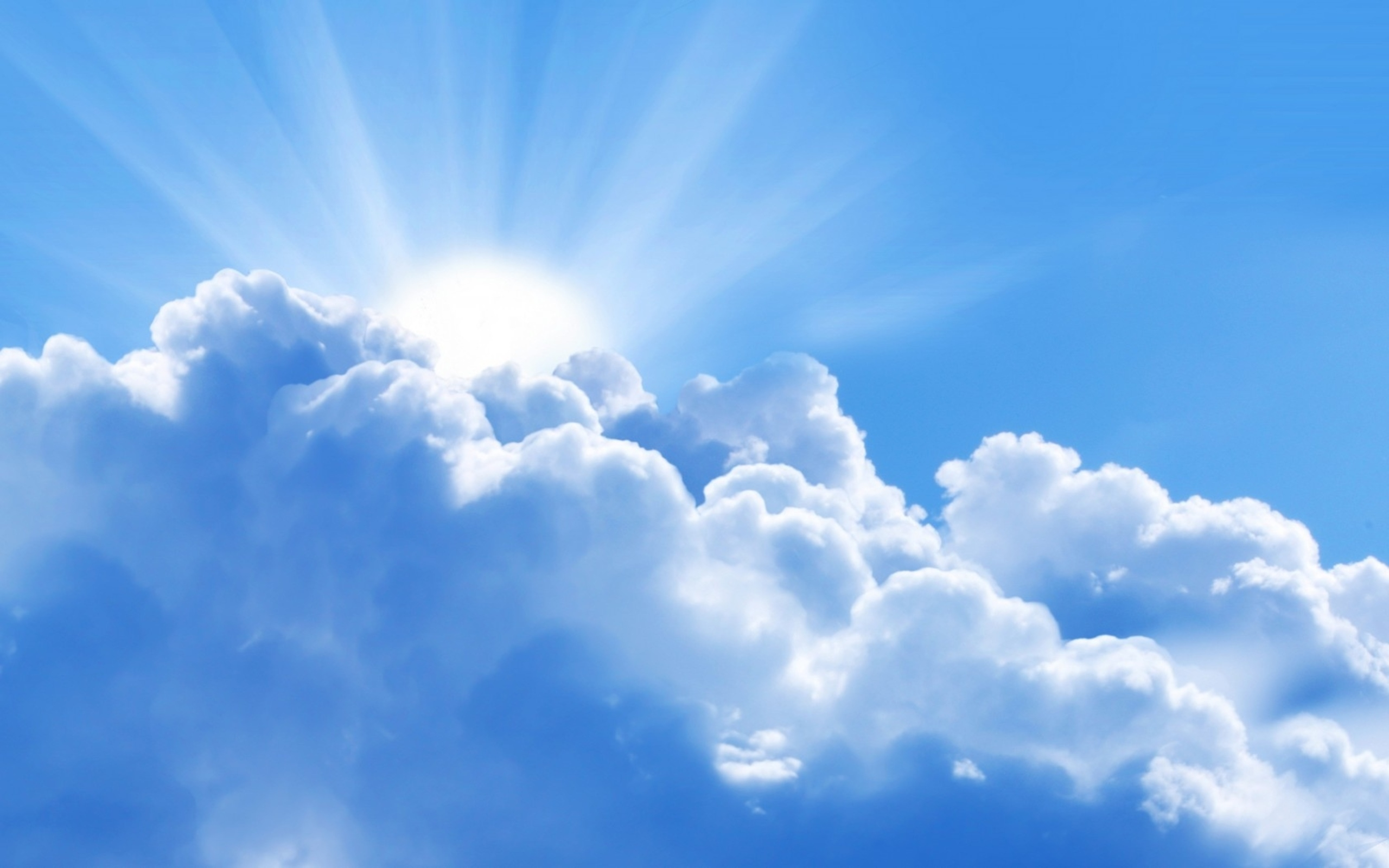 Sunbeams through the Cloud Wallpaper 117.59 Kb
