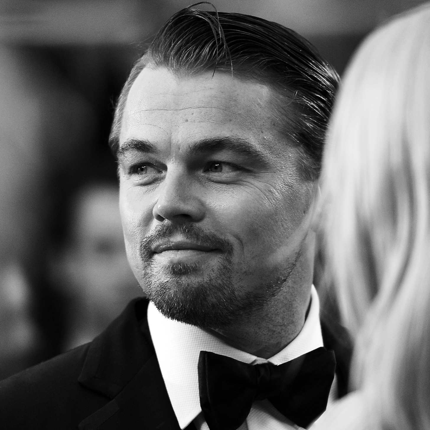 Black and White Leonardo DiCaprio Photo