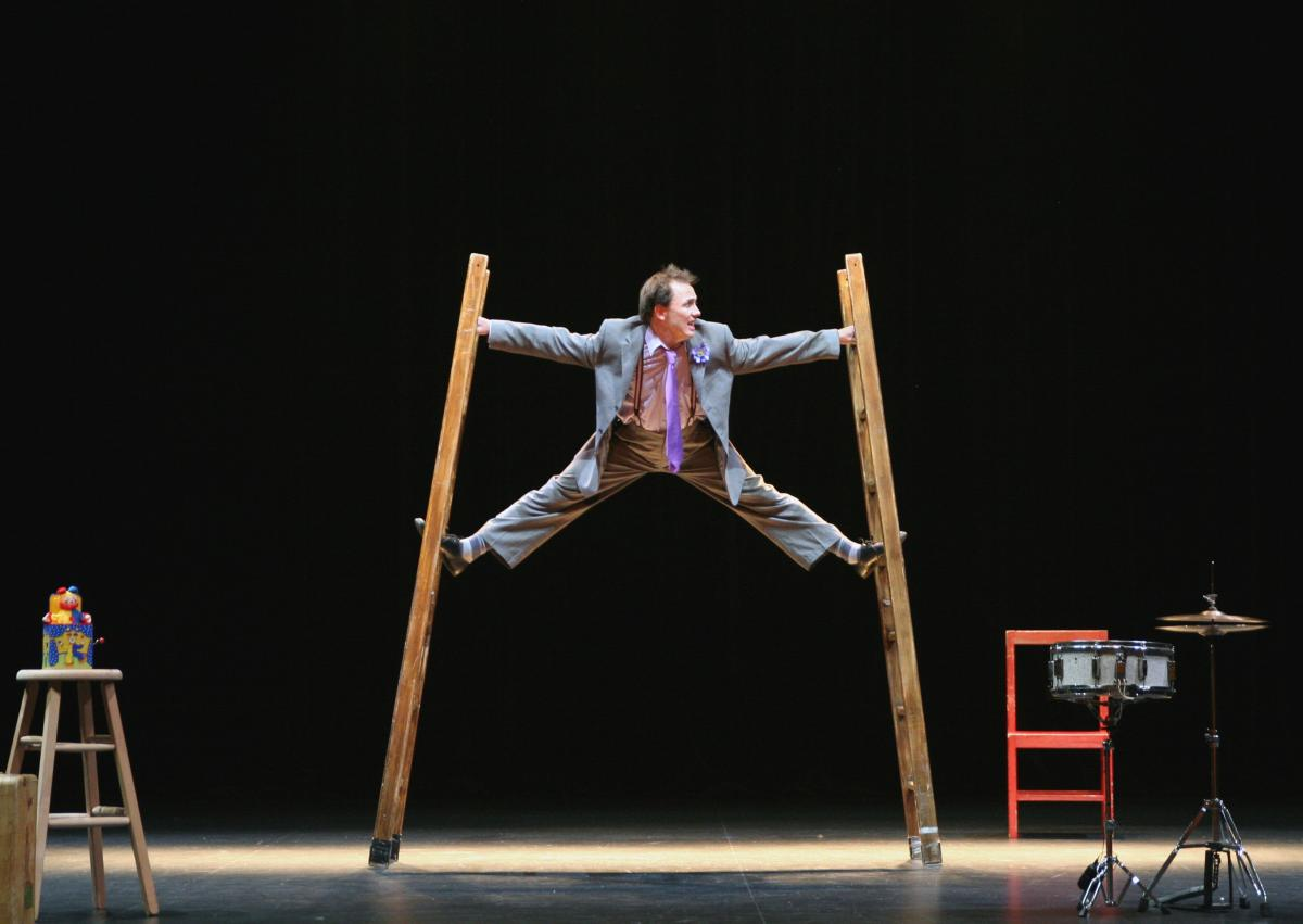 Acrobat Performance on a Stage
