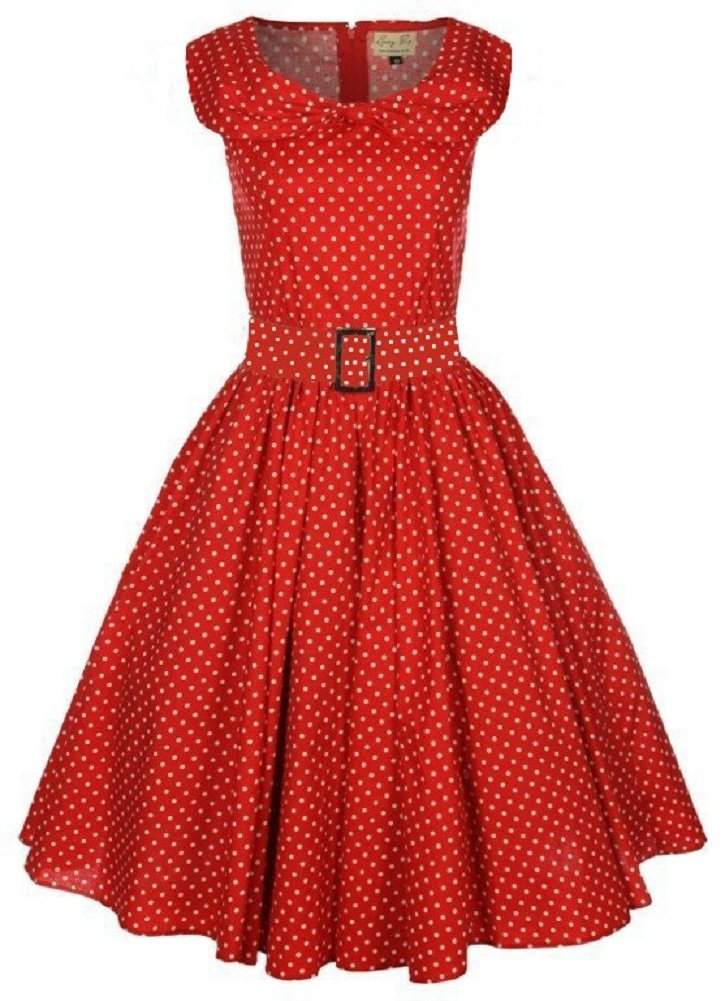Red Dress with White Dots 53.37 Kb