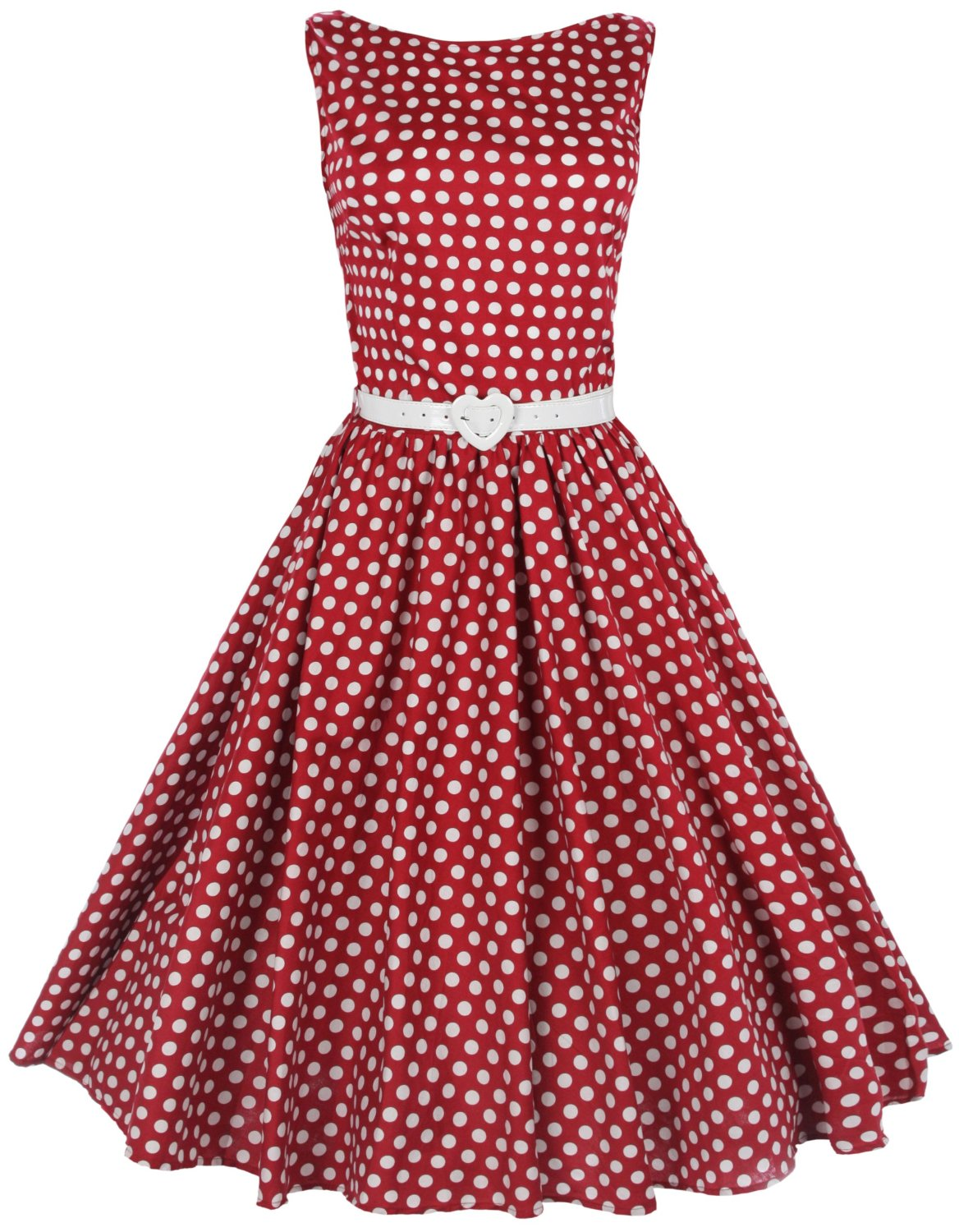 Retro Red Dress with Dots 101.66 Kb