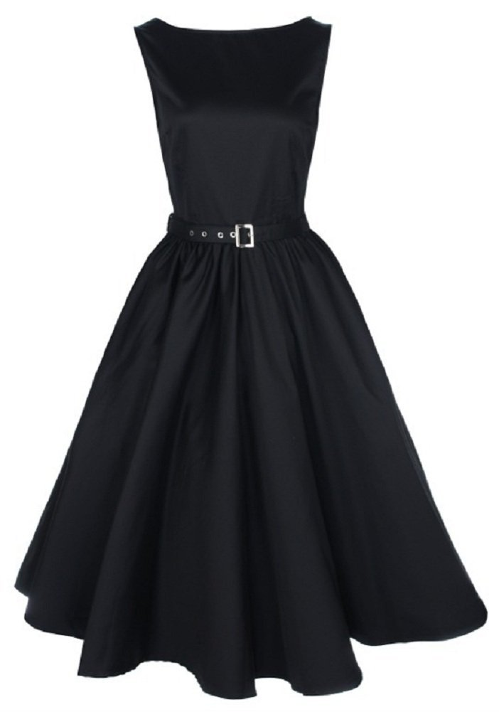 Black Dress Open Neck 181.49 Kb