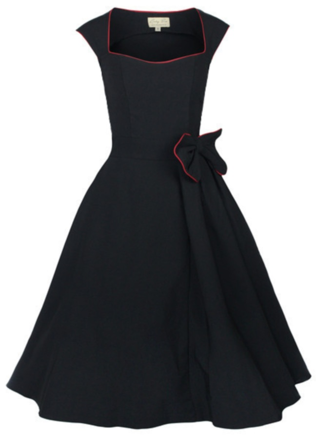 Black Dress with Red Edging