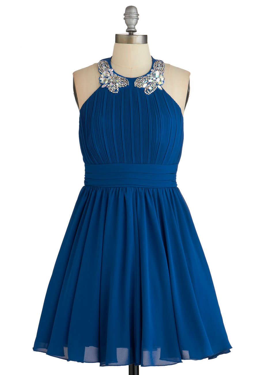 Blue Short Dress 53.37 Kb