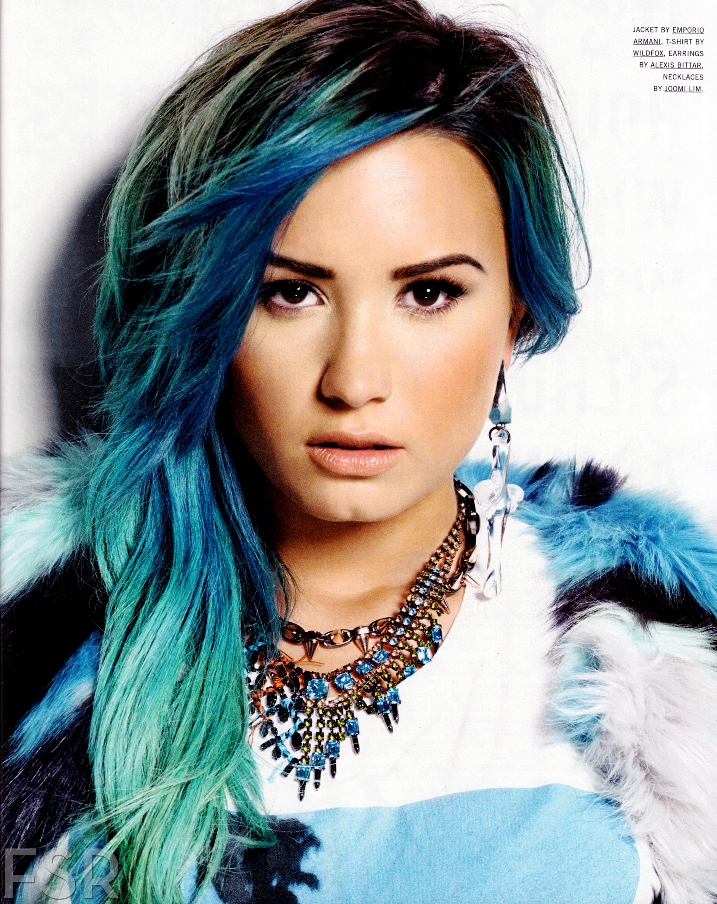 Demi Lovato with Blue Green Hair