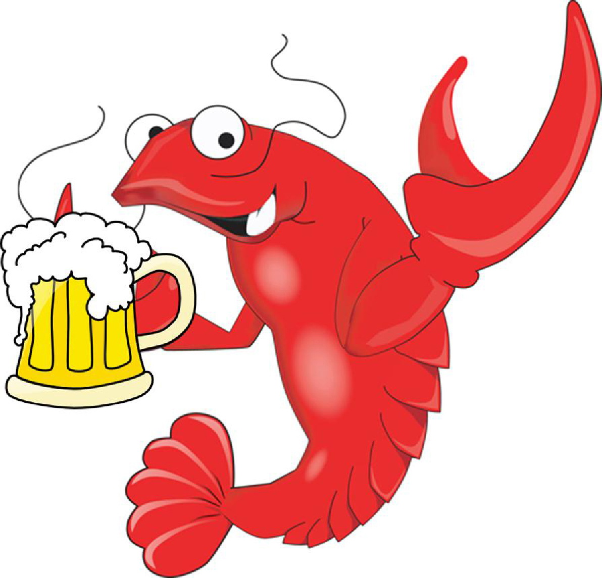 Funny Crawfish with a Mug of Beer 1750.73 Kb