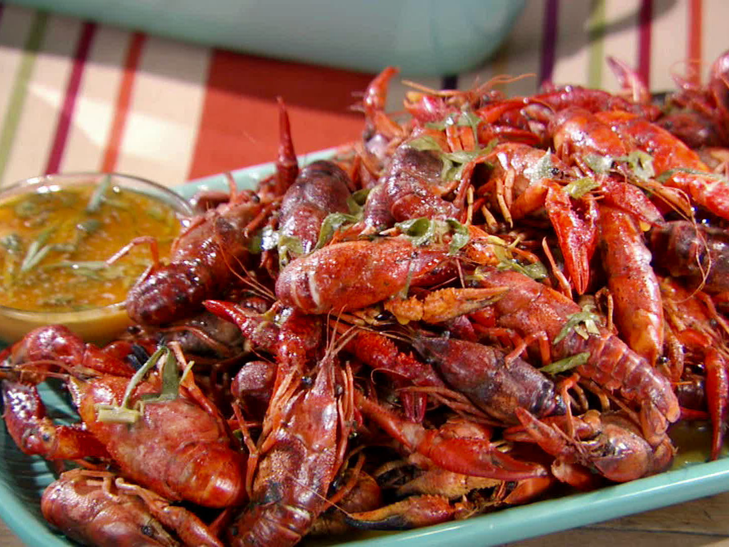 Crawfish Dish on a Tray