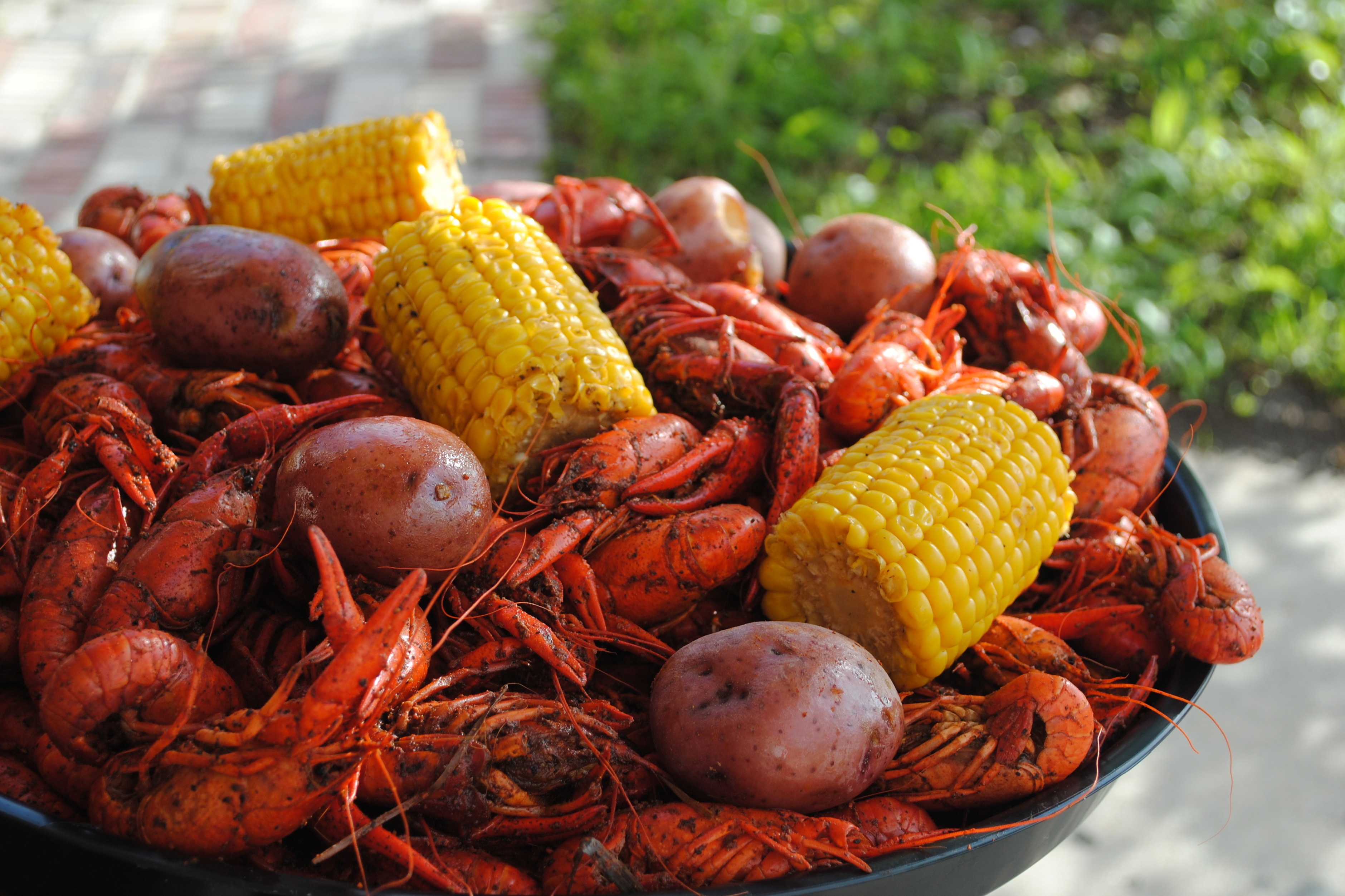 Boiled Crawfish with Corn and Potato