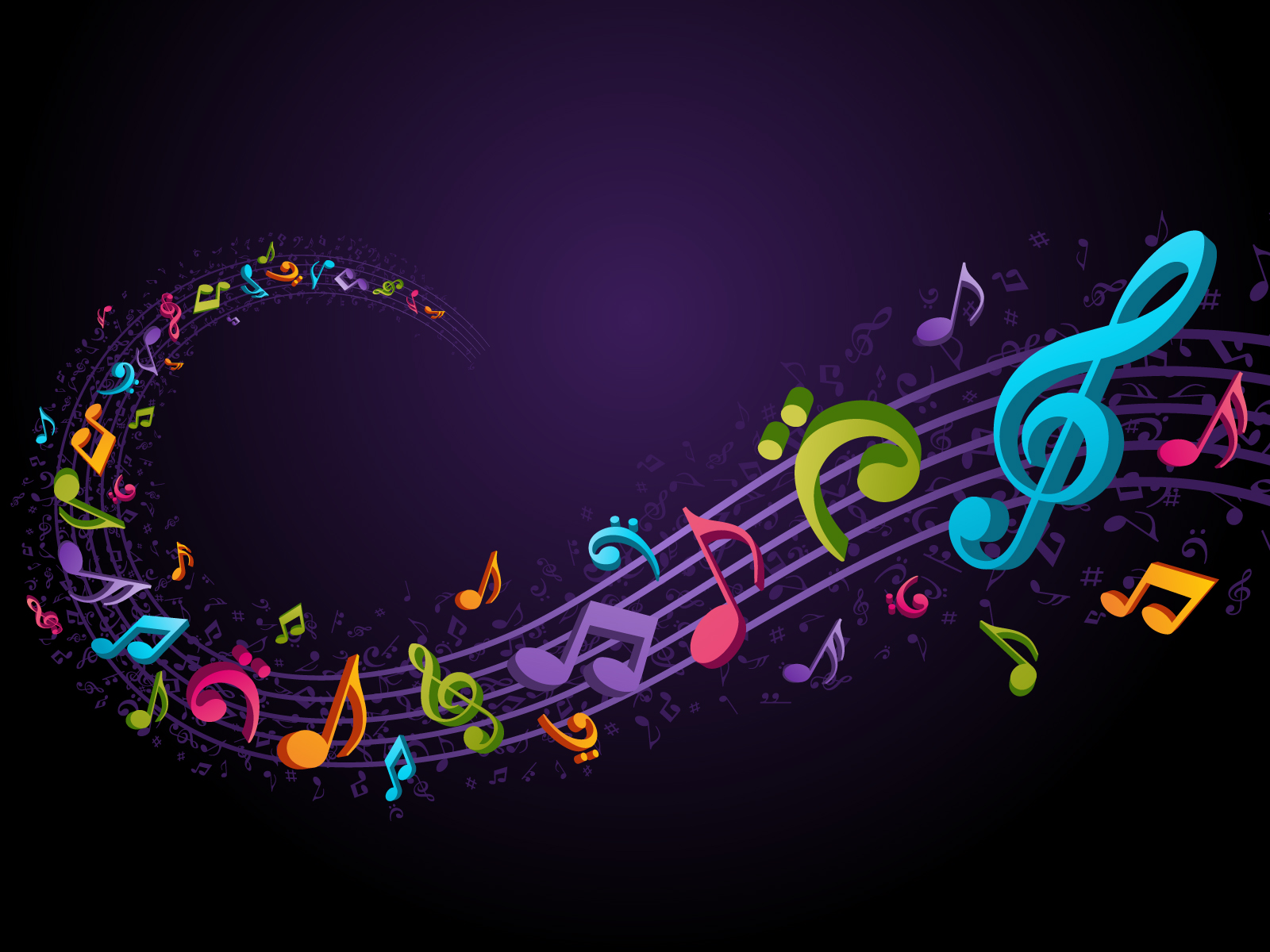 Colorful Music Notes 320.04 Kb