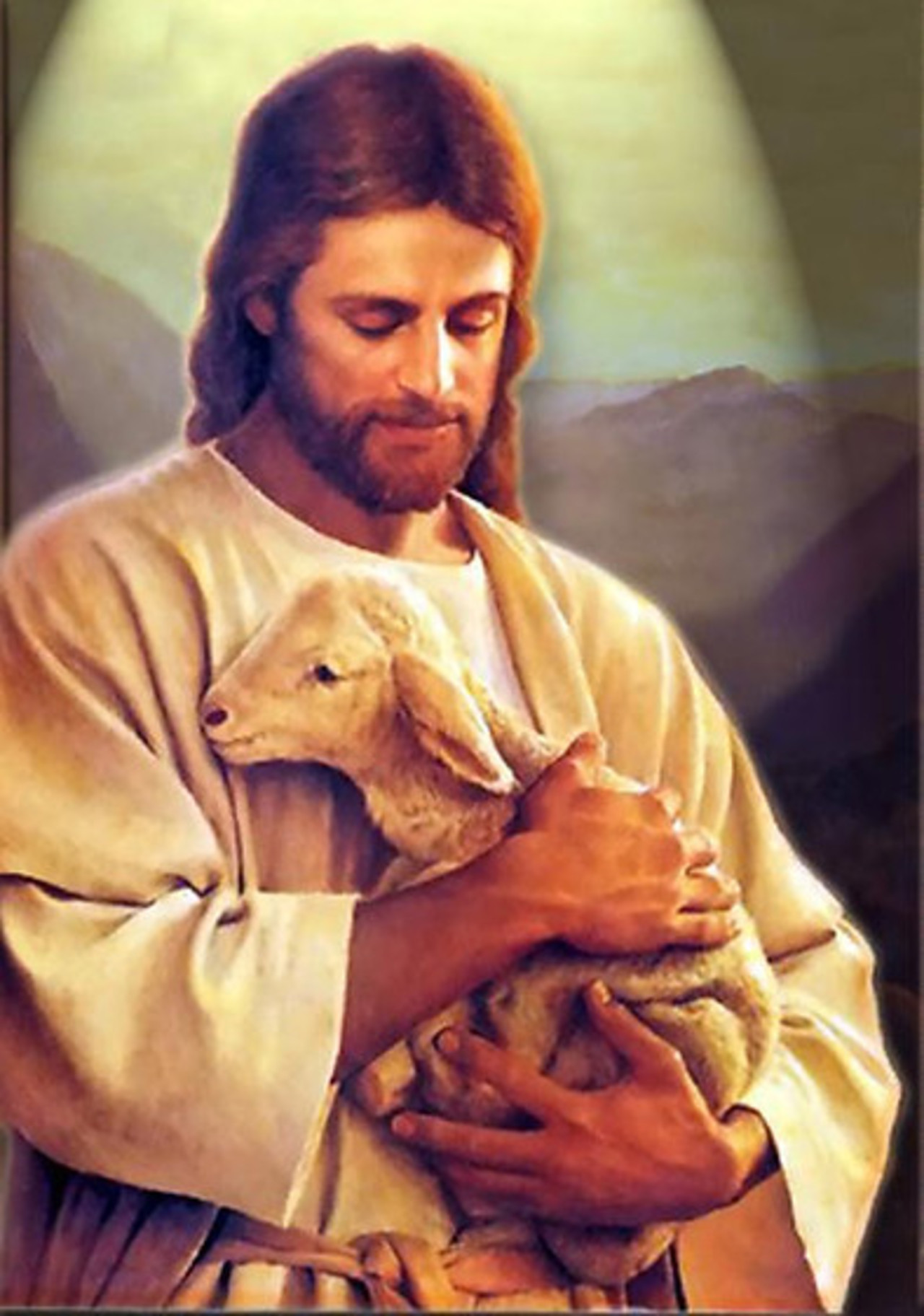 Jesus with a Sheep in Hands 125.18 Kb