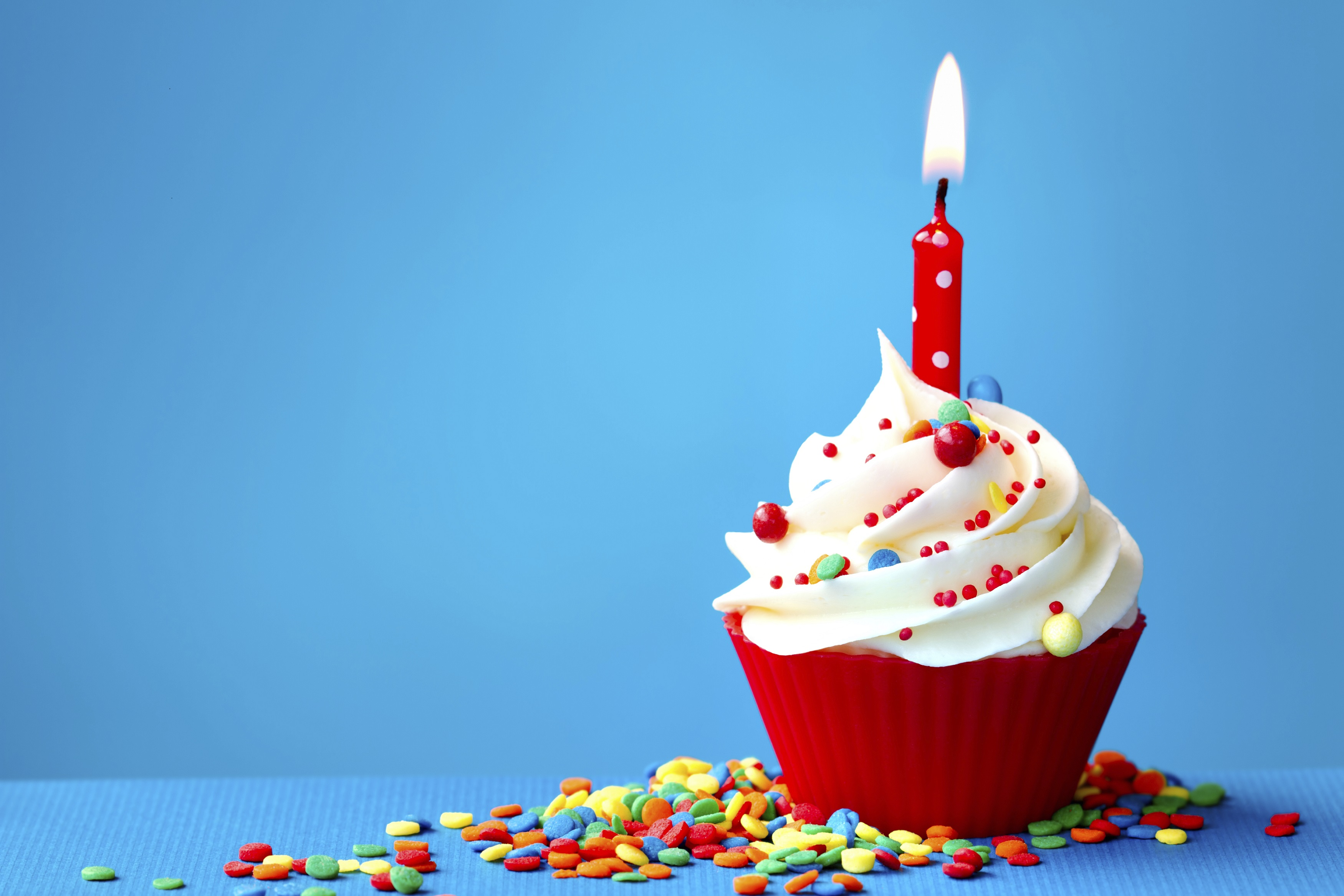 Birthday Cupcake with Sprinkles 1876.56 Kb