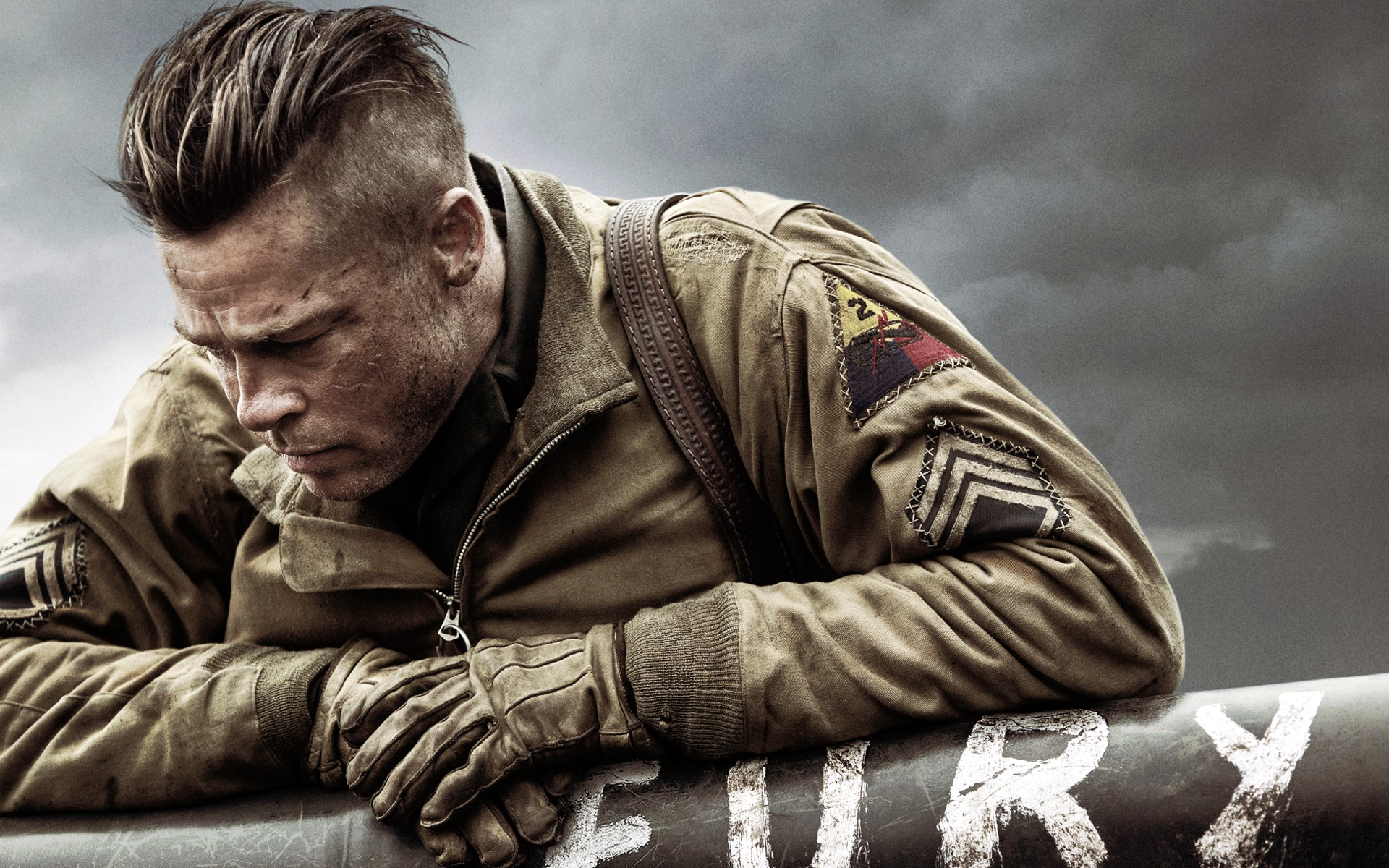Brad Pitt in Fury 2802.33 Kb