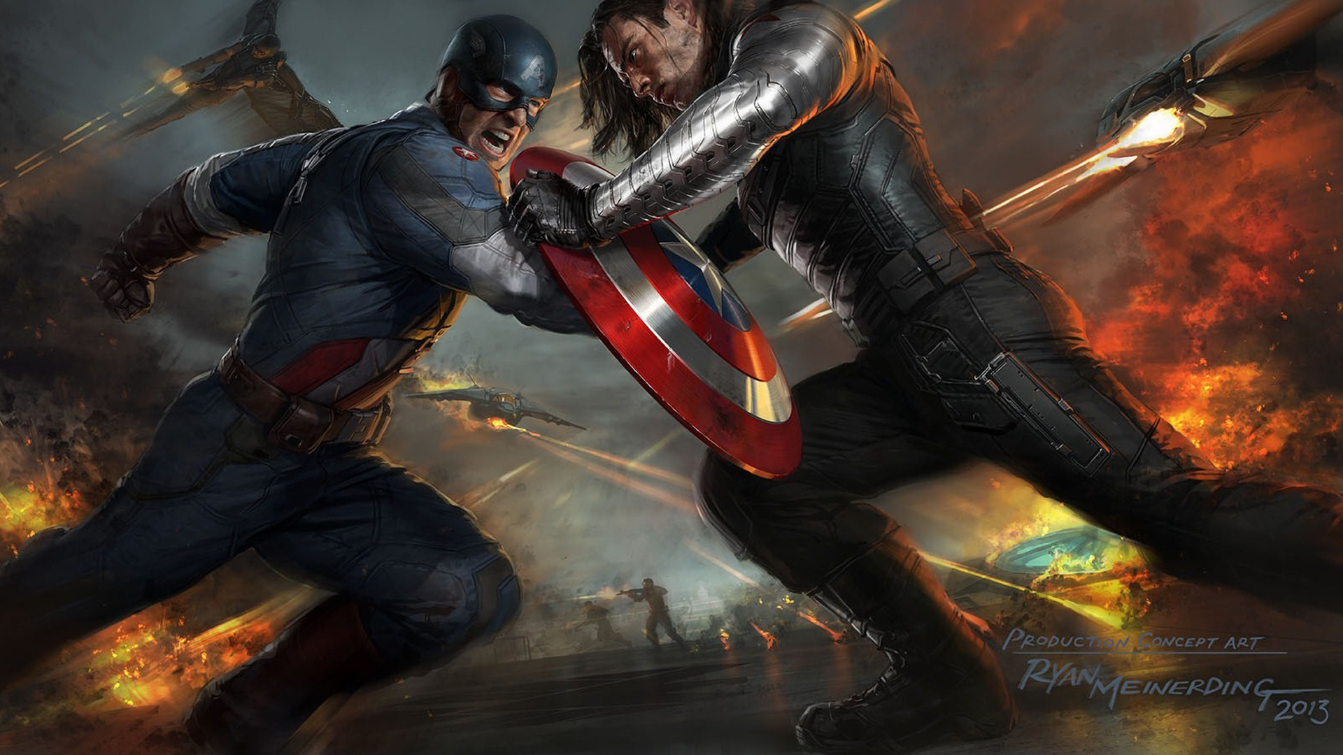 Captain America The Winter Soldier Artwork
