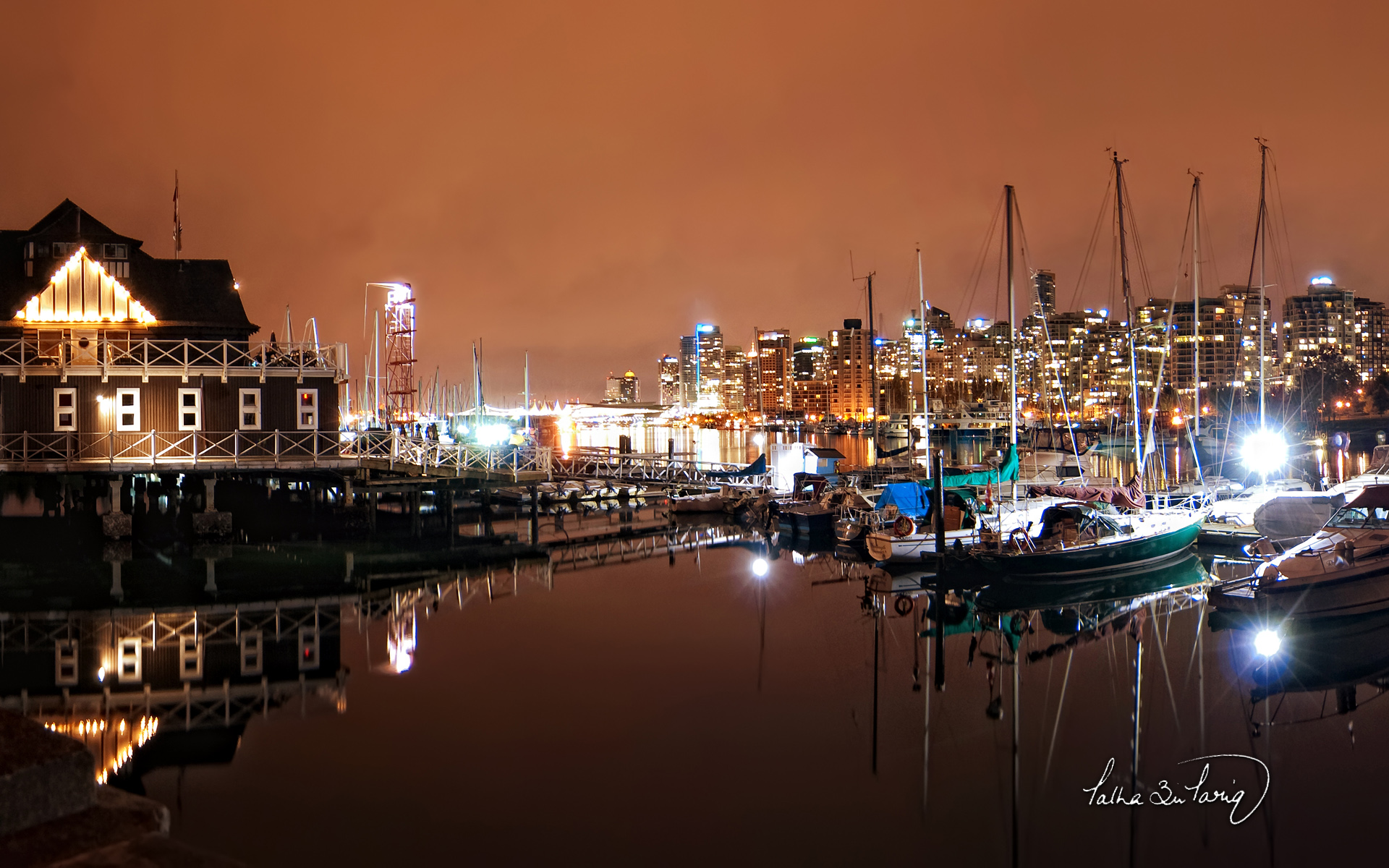 Vancouver Coal Harbour Nights 1105.79 Kb