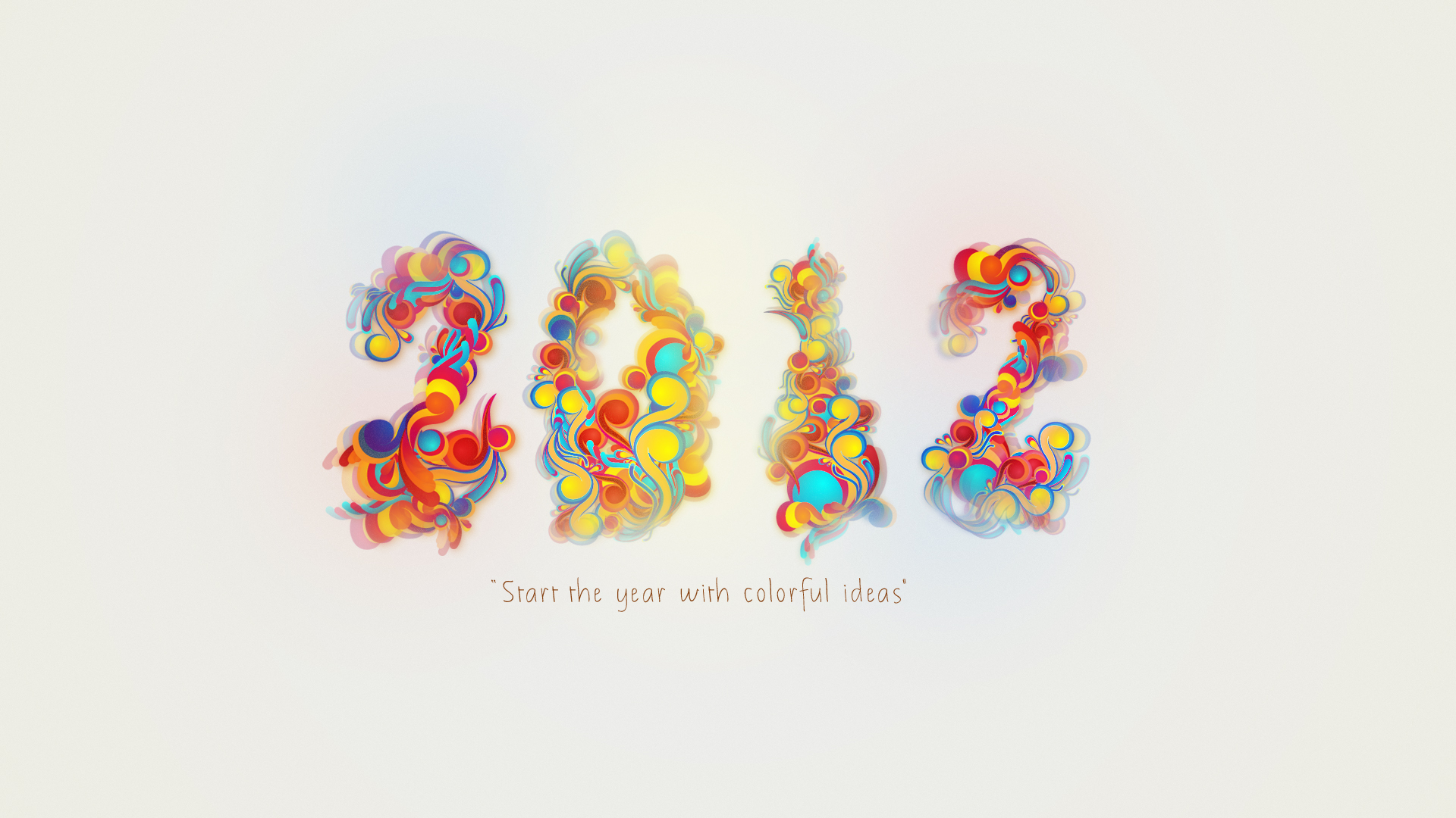 2012 Colorful New Year 769.51 Kb