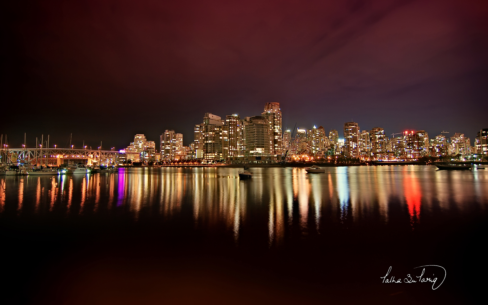 Vancouver City Nights 1603.8 Kb