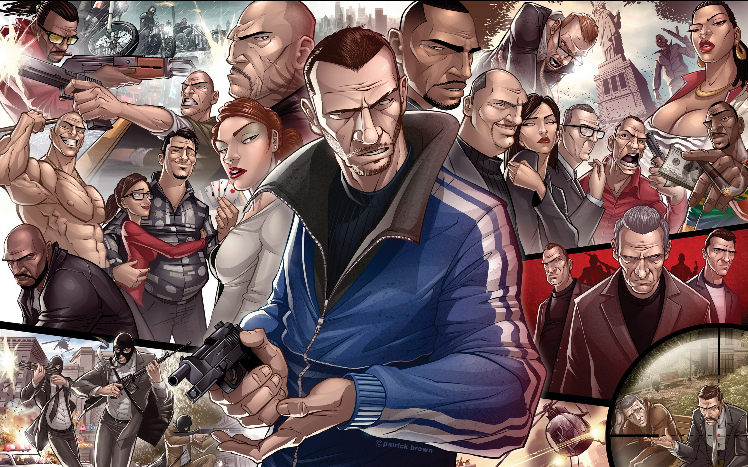 Grand Theft Auto IV Characters 1026.18 Kb