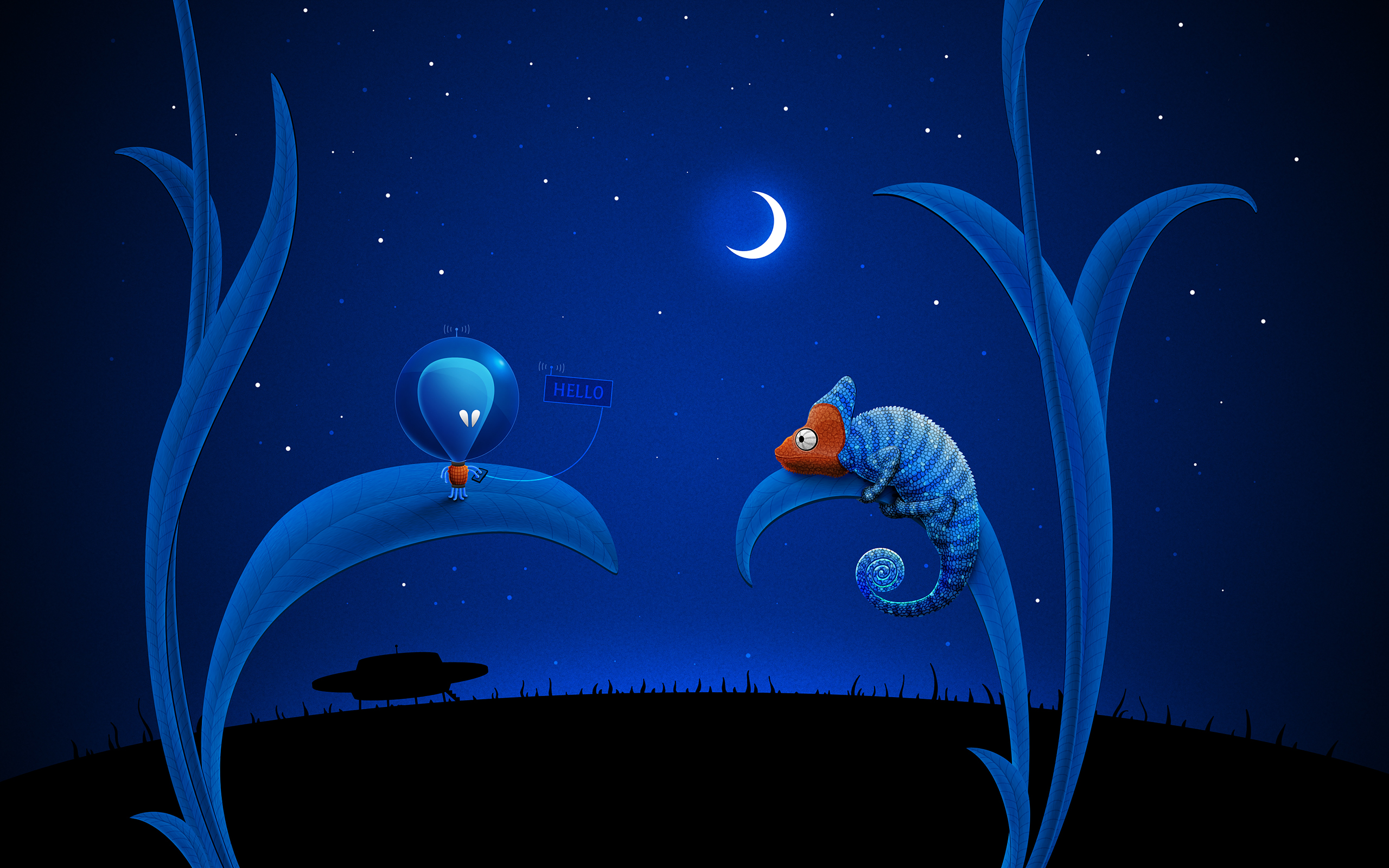 Alien Moon and Chameleon