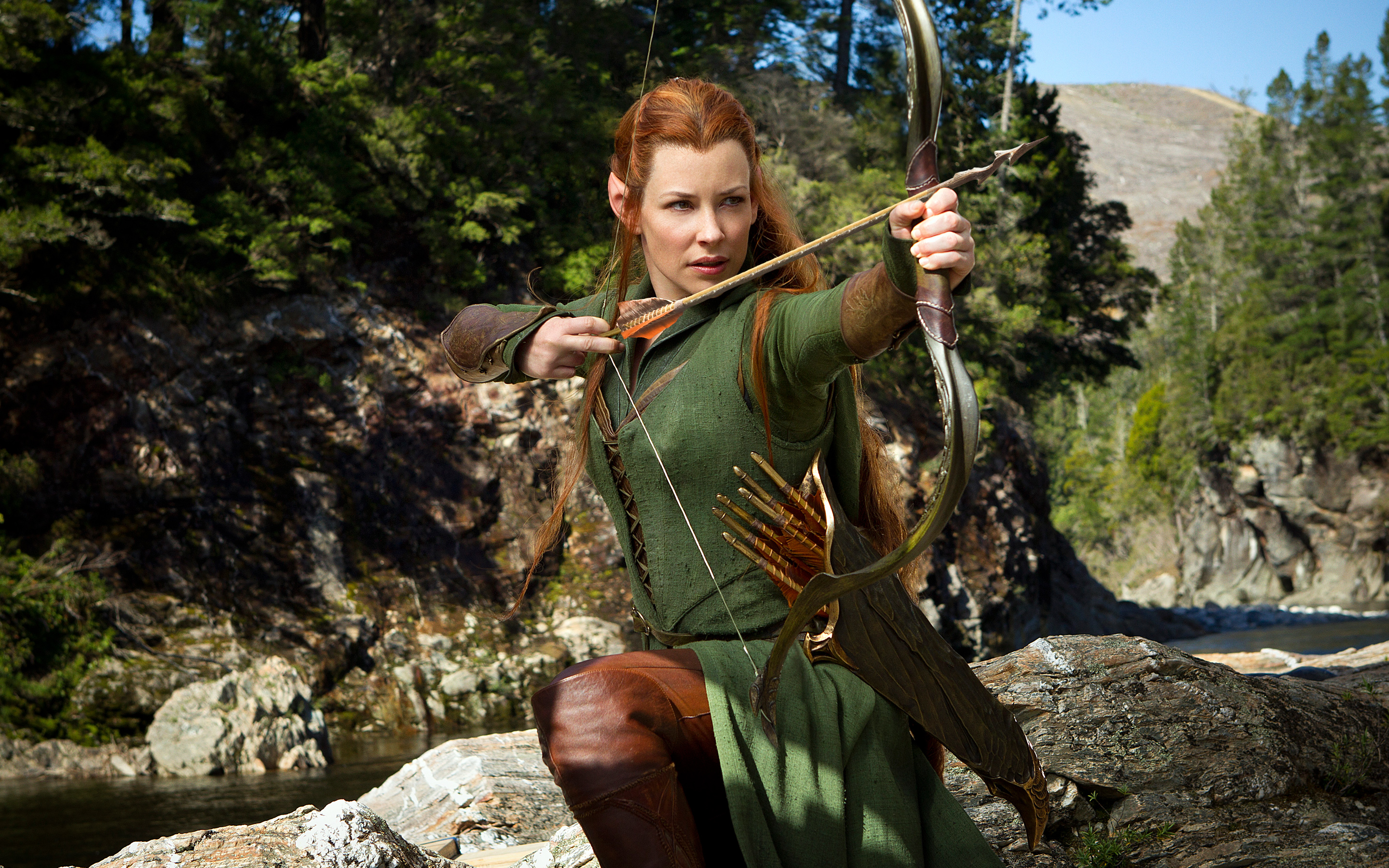 Evangeline Lilly as Tauriel in Hobbit