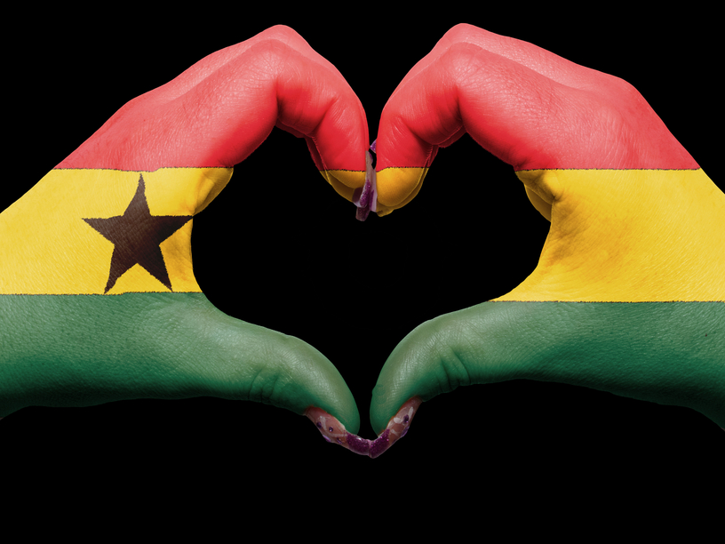 Love Ghana Symbol Made with Hands