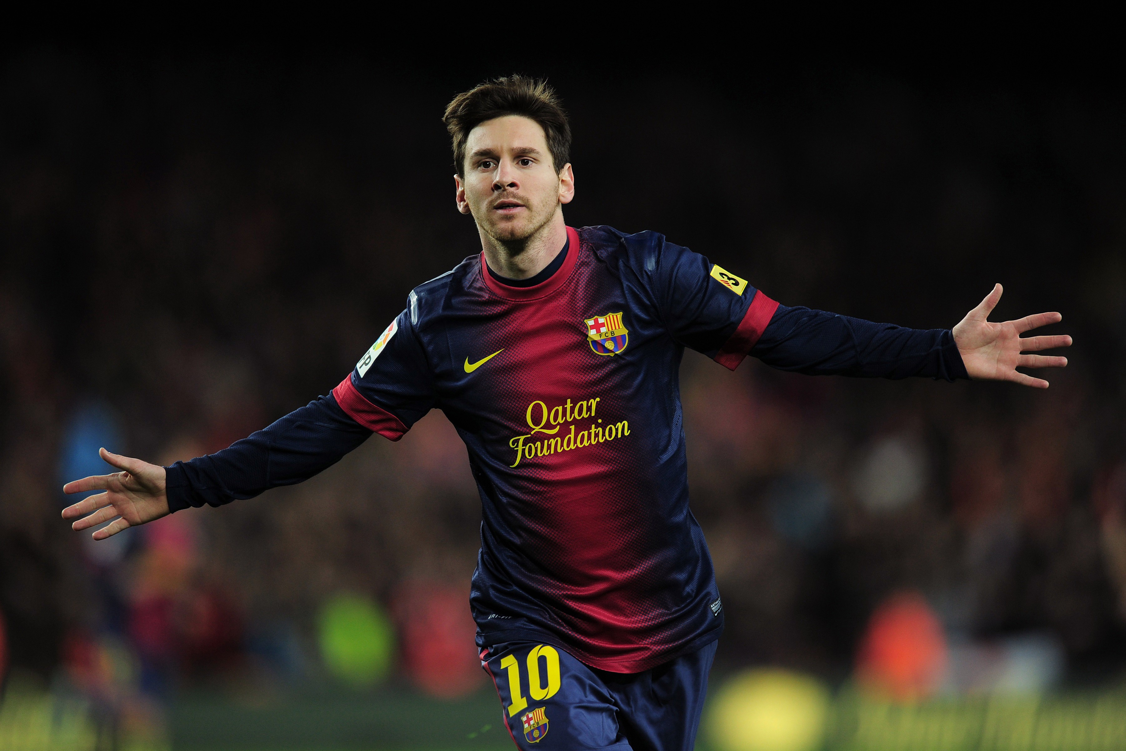 Lionel Messi Cheers a Goal