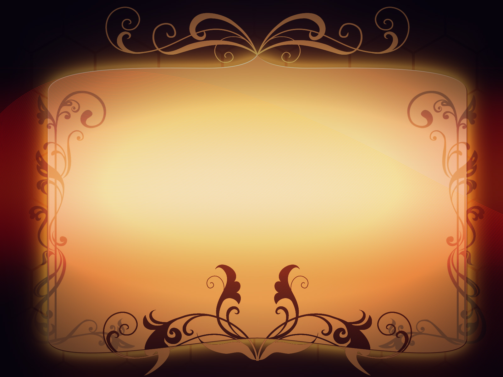 Golden Frame, Background Powerpoint 611.2 Kb