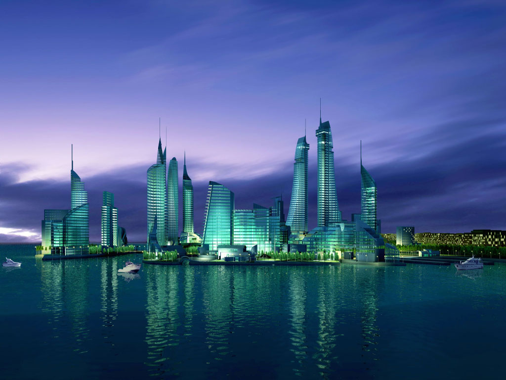 River Side View in Bahrain 1351.4 Kb